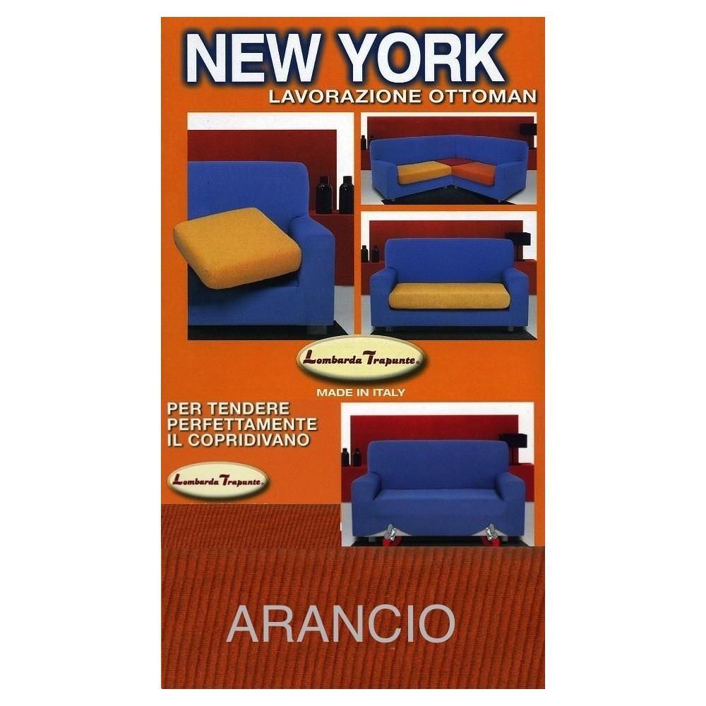 COPRIDIVANO NEW YORK  ARANCIO made in Italy