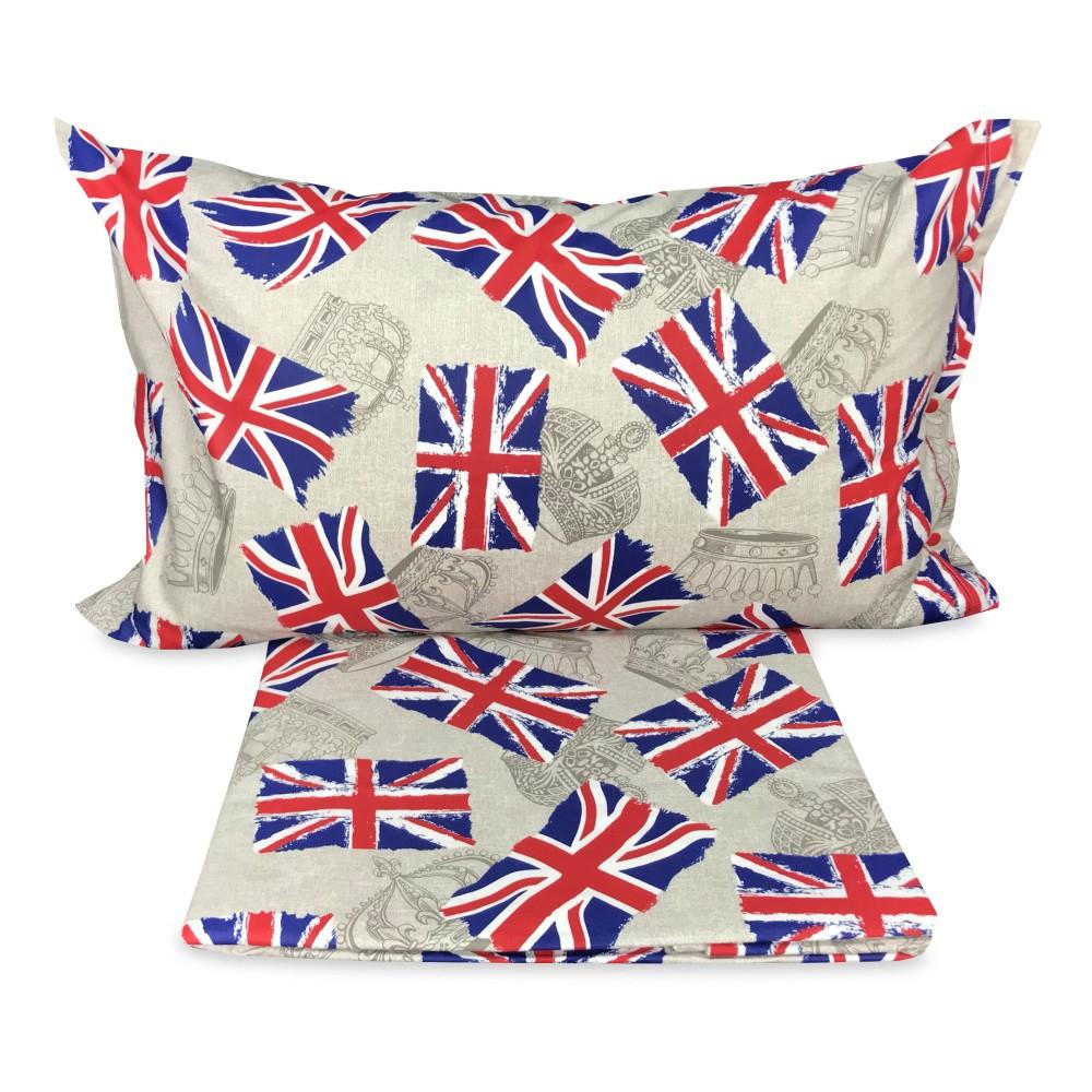 Copripiumino Matrimoniale Bandiera Inglese.Copripiumino Bandiera Londra Inglese Dis Flag Misura Singolo 1 Piazza Cm 155x200