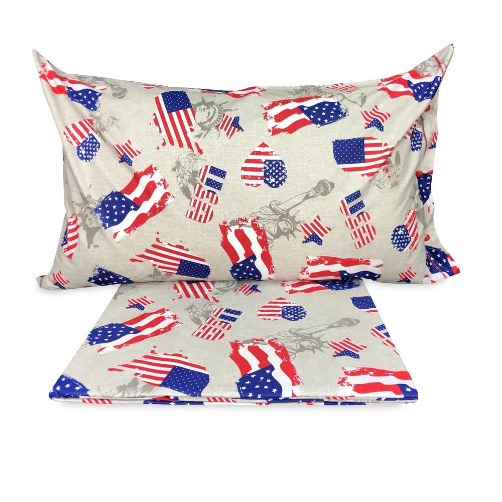 Copripiumino Bandiera America Americana Dis Flag Misura Singolo 1 Piazza Cm 155x200