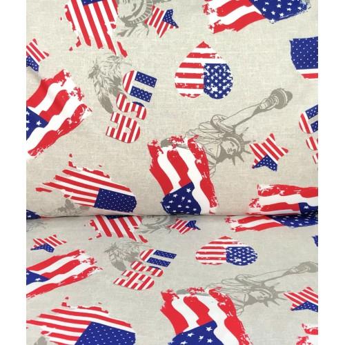 COPRIPIUMINO BANDIERA AMERICA AMERICANA DIS. FLAG