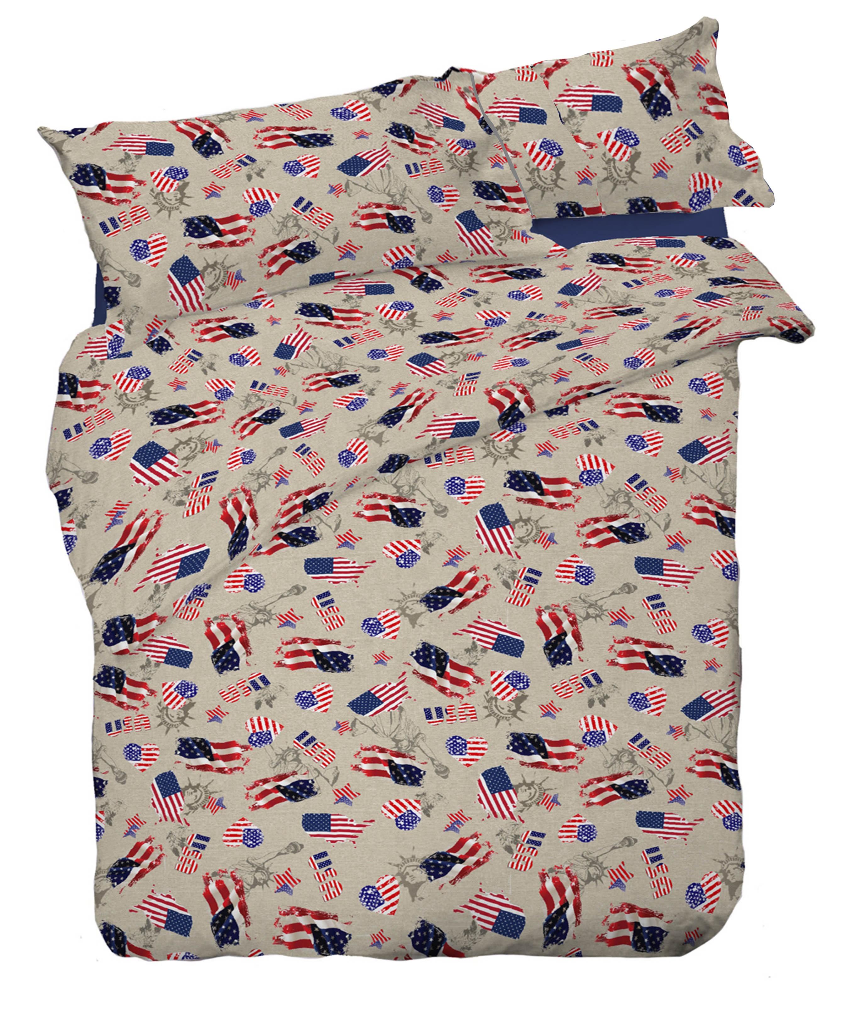 Copripiumino America.Copripiumino Bandiera America Americana Dis Flag Misura Singolo 1