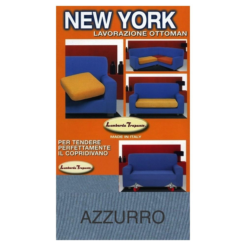 COPRIDIVANO NEW YORK AZZURRO  made in Italy
