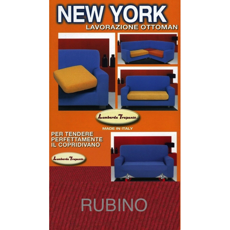 COPRIDIVANO NEW YORK RUBINO made in Italy