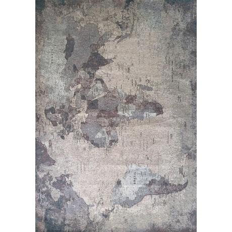 TAPPETO MODERNO MONDO WORLD GRIGIO cm. 133X190