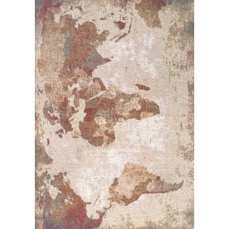 TAPPETO MODERNO MONDO WORLD NATURALE cm. 133X190