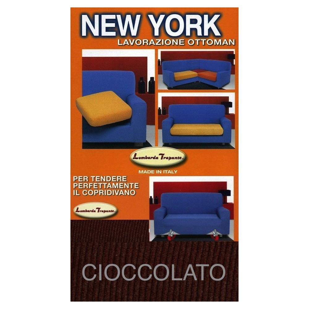 COPRIDIVANO NEW YORK CIOCCOLATO made in Italy