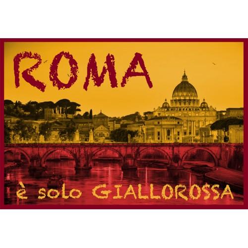 TELO MARE SPORT ROMA MISURA GRANDE CM. 90 X 170 ORIGINALE A.S. ROMA CON ZAINO TEXFAMILY e cartolina ROMA È SOLO