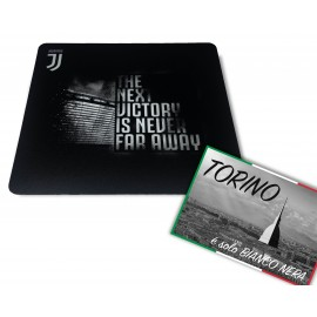 Tapis de SOURIS tapis de souris à la JUVENTUS cm. 20X23 LA PROCHAINE VICTOIRE de la JUVENTUS et de la carte postale de TURIN EST