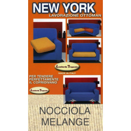COPRIDIVANO NEW YORK NOCCIOLA MELANGE made in Italy