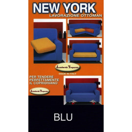 COPRIDIVANO NEW YORK BLU made in Italy