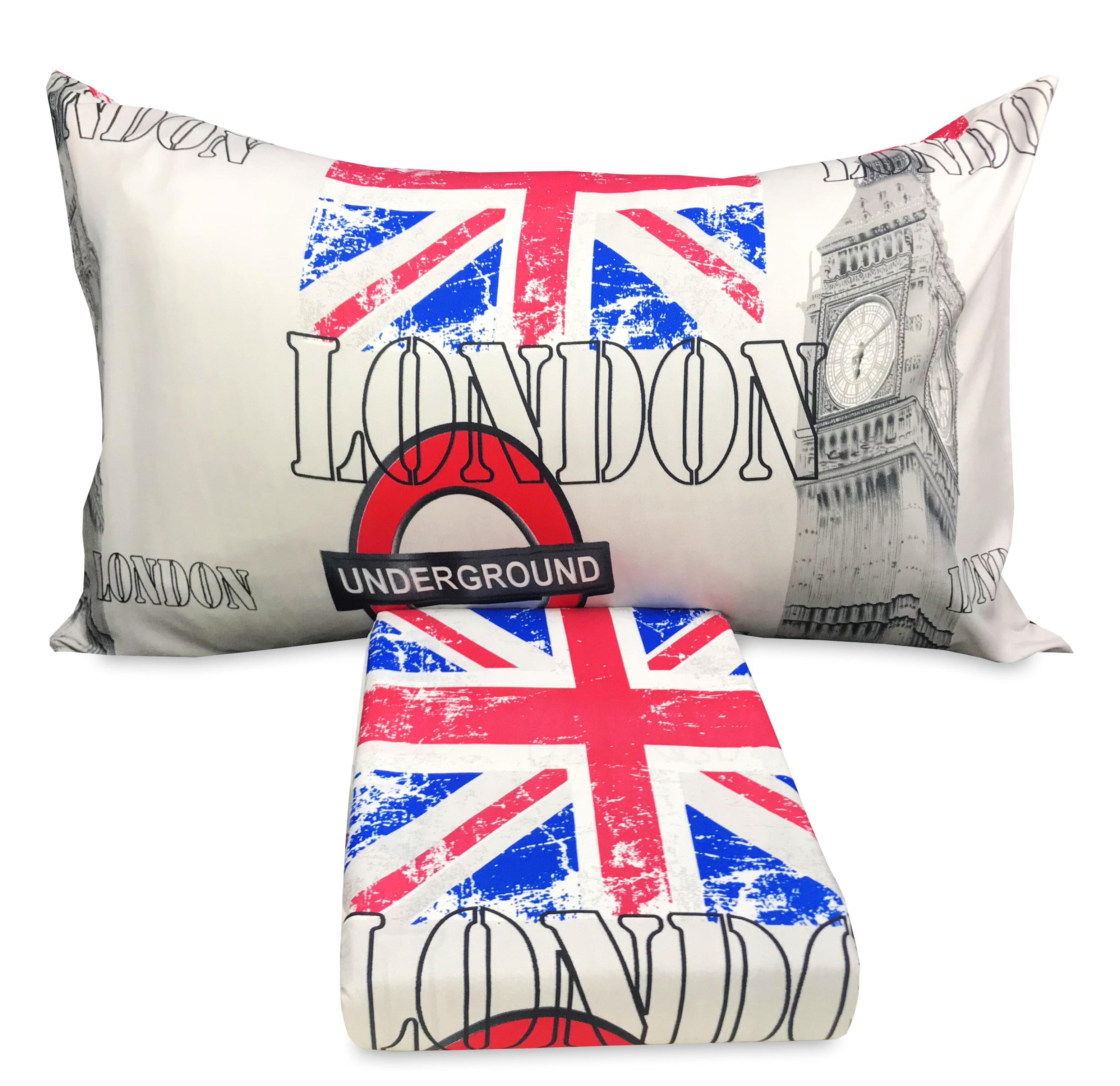 Copripiumino Inglese.Copripiumino Londra Inglese Cabina Big Ben Underground Competo Di