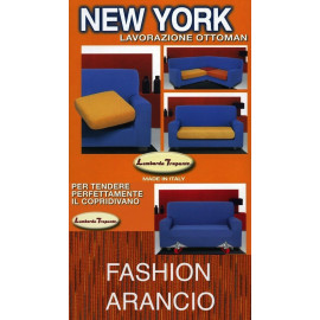 COPRIDIVANO NEW YORK FASCHION ARANCIO made in Italy