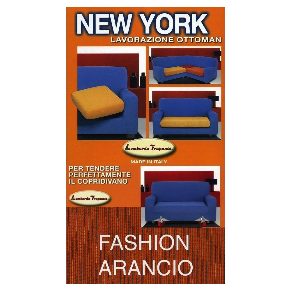 COPRIDIVANO NEW YORK FASHION ARANCIO made in Italy