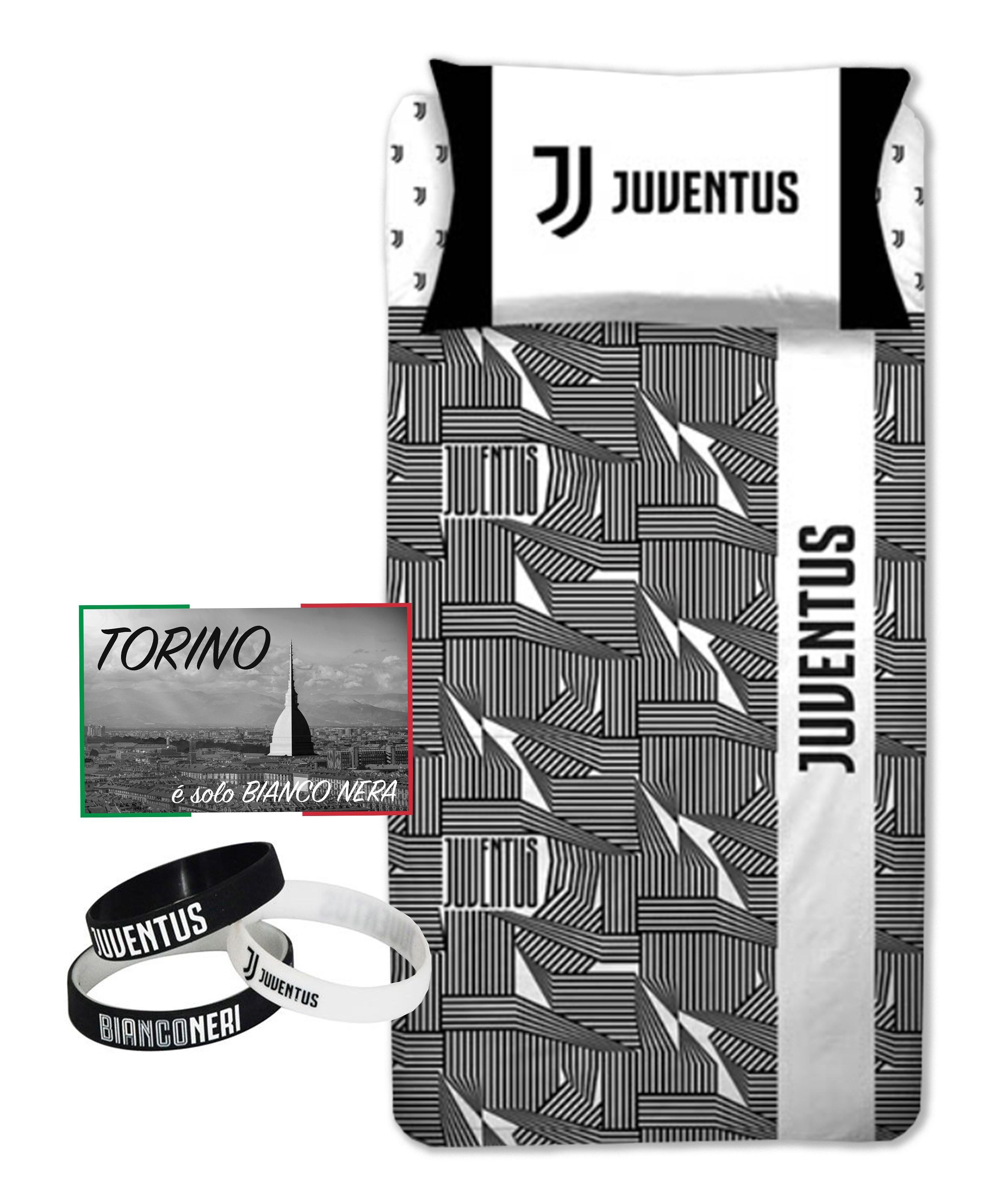 Copripiumino Juventus Singolo.Copripiumino Singolo 1 Piazza Juve Ufficiale Juventus Bianco Nero