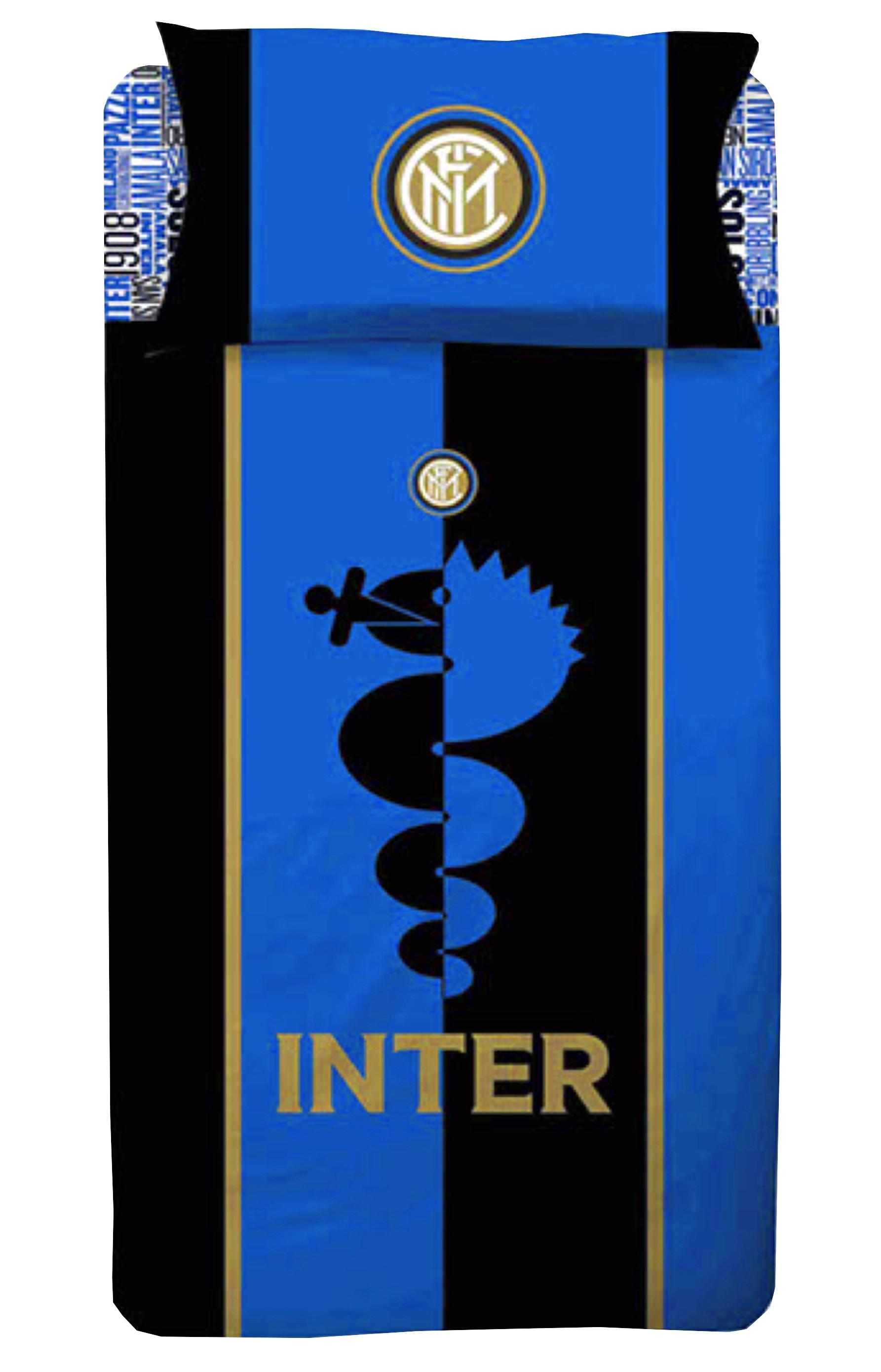 Copripiumino Inter Singolo.Copripiumino Singolo 1 Piazza Inter Ufficiale Internazionale E