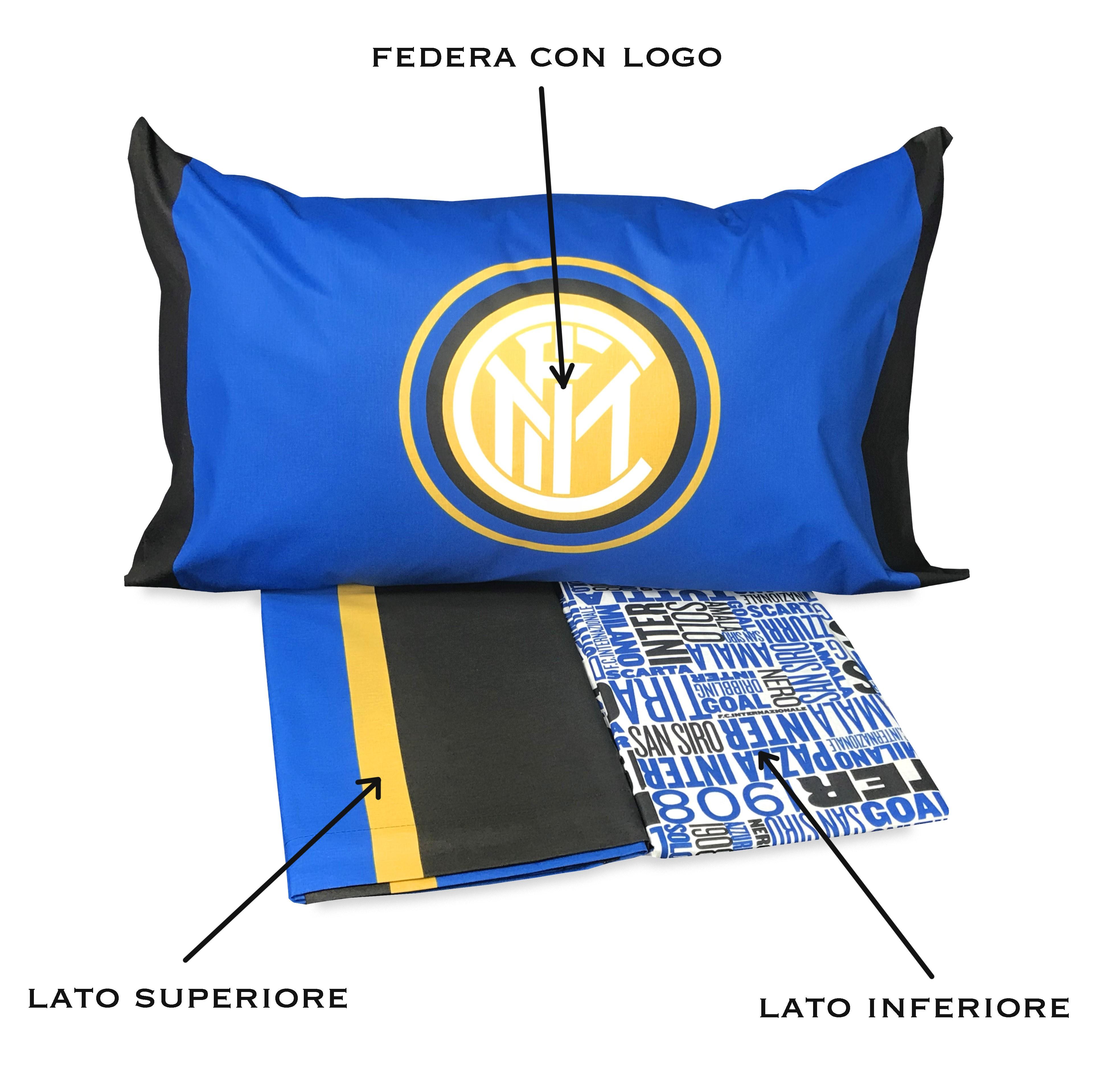 Copripiumino Inter.Copripiumino Singolo 1 Piazza Inter Ufficiale Internazionale E