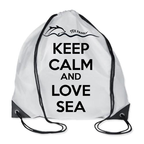 TELO MARE fouta LETTINO PESCI BLU in cotone BEDDY BEACH © CON TASCHE MISURA CM. 75 X 195 e zaino SPIAGGIA