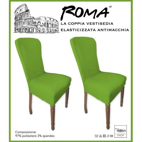 PAIRE coprisedia TRONÇON de ROME, résistant aux taches VERT