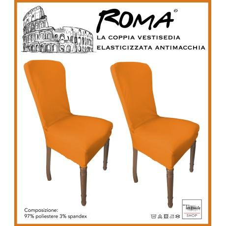 PAIRE coprisedia TRONÇON de ROME ou de la teinture dans un SOLIDE de COULEUR ORANGE