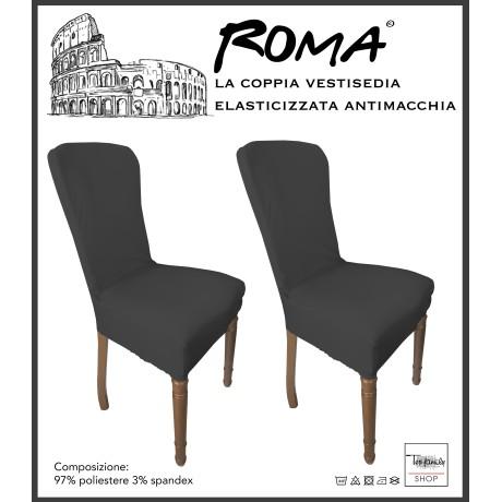 PAIRE coprisedia TRONÇON de ROME ou de la teinture dans un SOLIDE de COULEUR GRIS PLOMB