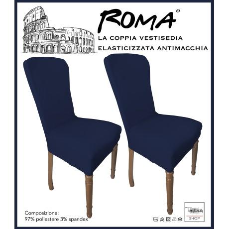 PAIRE coprisedia TRONÇON de ROME ou de la teinture dans un SOLIDE de COULEUR BLEU