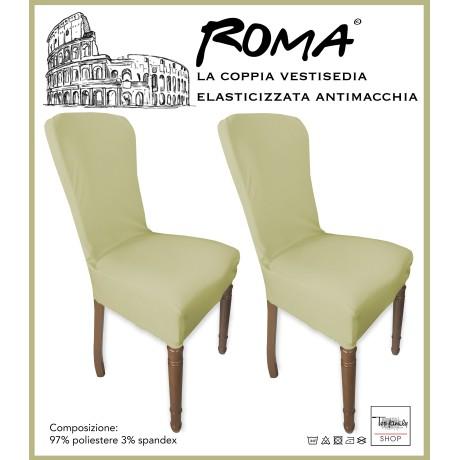 PAIRE coprisedia TRONÇON de ROME, résistant aux taches SOLIDE BEIGE
