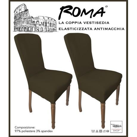 PAIRE coprisedia TRONÇON de ROME, résistant aux taches BRUN plein