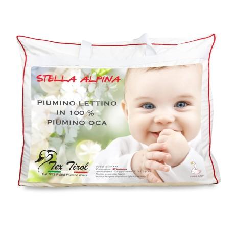 COUETTE tex tirol © STELLA ALPINA de LIT bébé 100% DUVET d'OIE 300 gsm cm. 100 x 135