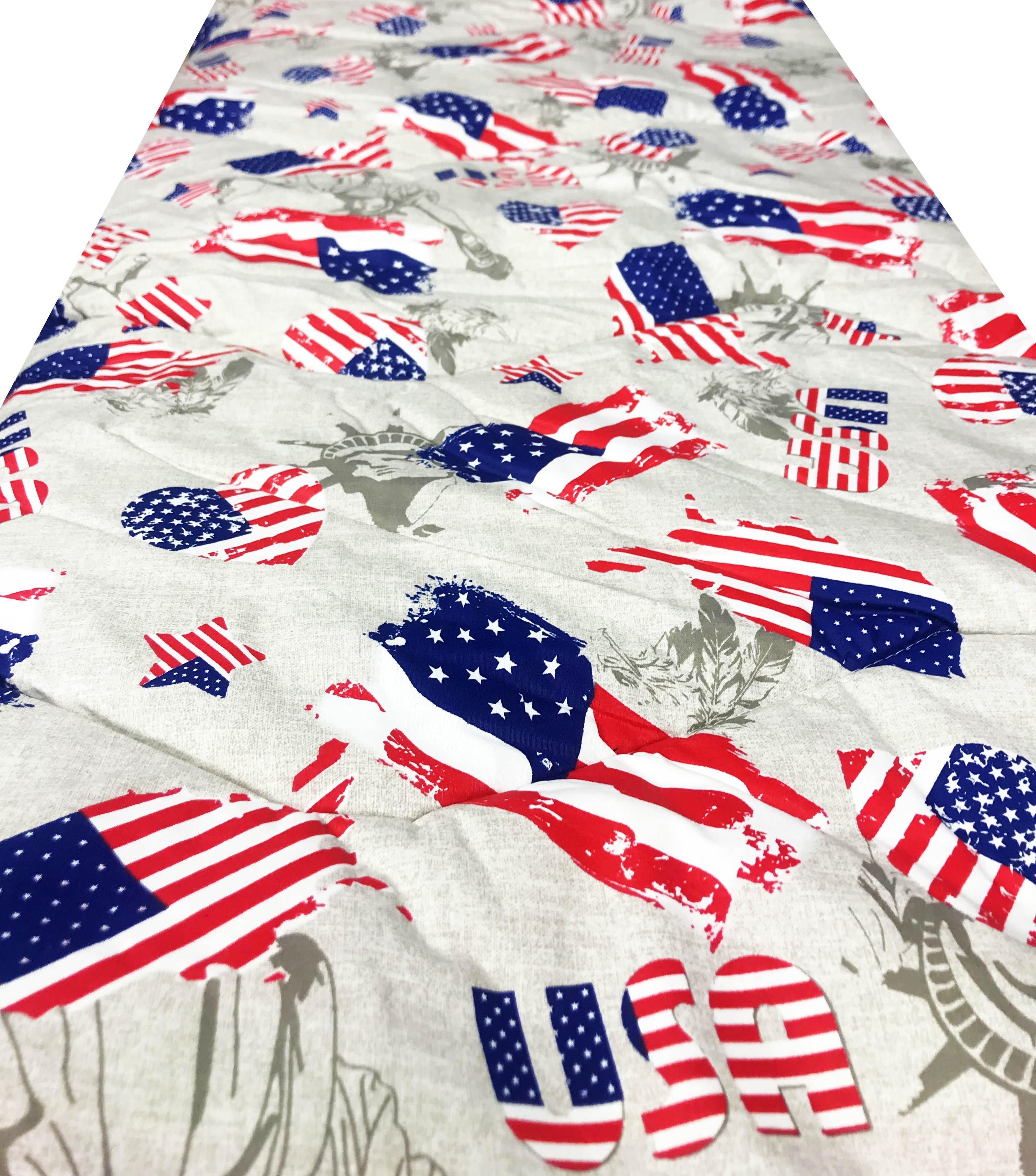 Bandiera USA Matrimoniale 250X250 Invernale Imbottitura 300 Gr//mq CIRANOCASA Trapunta in Microfibra Stampa Fotografica