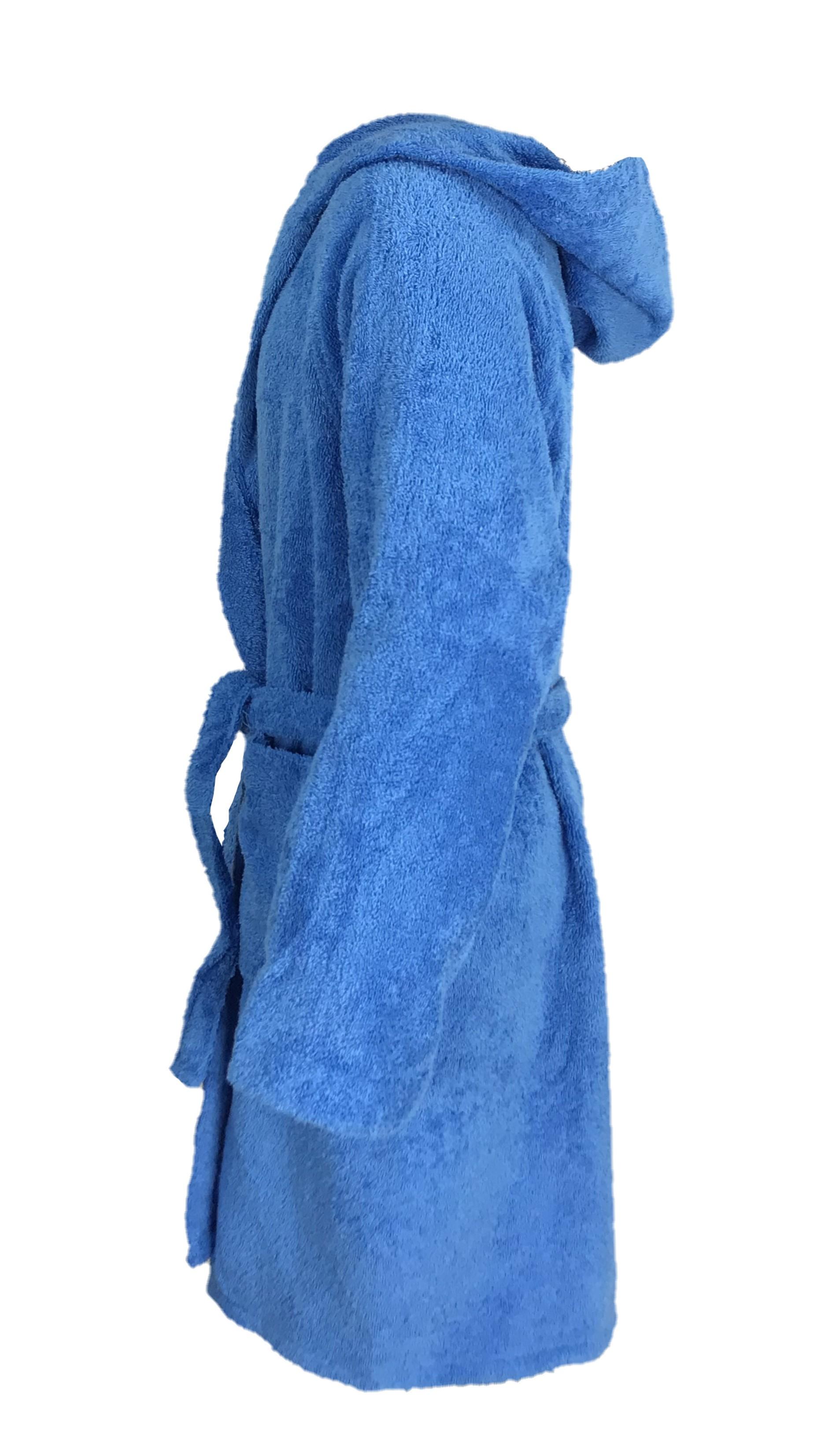 tex family Accappatoio Hi Tech /© Bimbo Bambino Ragazzo in Spugna di Puro Cotone Made in Italy Bluette