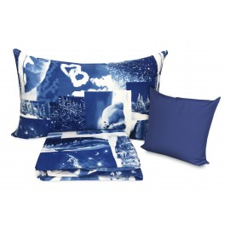 Housse de couette Polari Ours Bleu avec taie d'oreiller