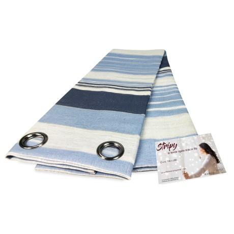 Rideau STRIPY Bleu 140 x 280 cm